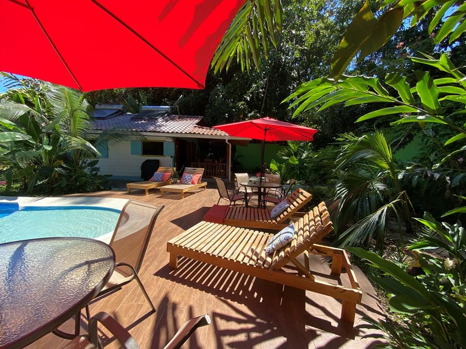Casas Vacacionales con Piscina en Puerto Viejo (Playa Cocles)